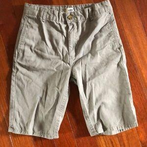 Boys grey adjustable waist shorts-Old Navy